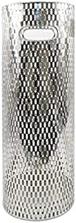 Concepts Silver Metal Umbrella Stand Rack with Stunning Designs 21'' High (Silver Quatrefoil)