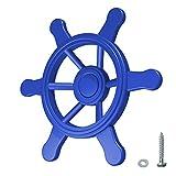 WICKEY Lenker Schiff Schiffslenker Schiffs-Lenkrad für den Spielturm, blau