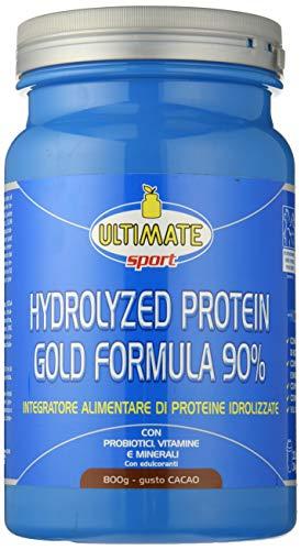 Ultimate Italia Integratore Alimentare a Base di Proteine del Siero del Latte Isolate Idrolizzate gusto Cacao - 800g