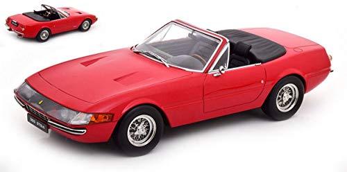 KK Scale Modelo A Escala Compatible con Ferrari 365 GTB Daytona Convertible 1a Serie 1969 Red 1:18 KKDC180611