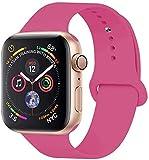 VIKATech Compatible Cinturino per Apple Watch Cinturino 40mm 38mm, Cinturino Morbido di Ricambio in Silicone per iWatch Series 5/4/3/2/1, M/l,