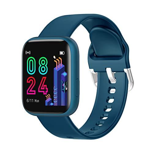 LQIAN P4 1,4 Zoll HD GroßbildGesundheit & Fitness Smartwatch Vollbild-Touch-Soft-Silikon-Armband, Schlafindex Musikfunktion IP67 imprägniern Sport-Armband (Blau)