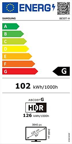 Samsung BE50T-H Signage TV LED-Display 50 Zoll 127cm (3840x2196, UHD, 250cd/m², 16/7, Tizen, DVB-T2/C/S2, USB, WLAN)