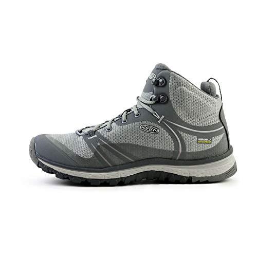 KEEN Women's Terradora Mid Waterproof Hiking Boot, Steel Grey/Magnet, 10 M US