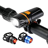 Bike Light Bicycle Headlight Set, WU-MINGLU MTB...