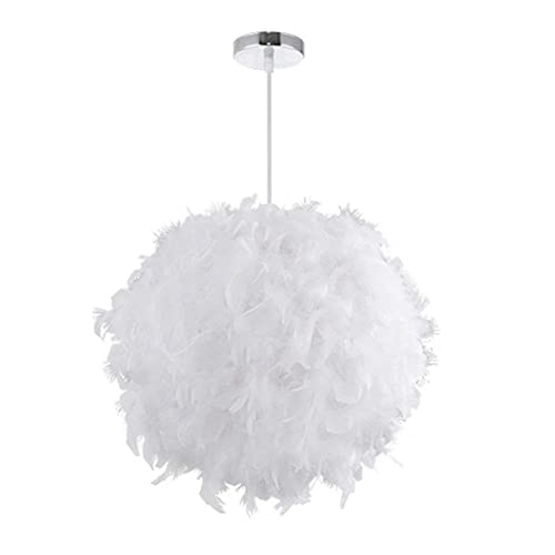 125b649c198 Feather Ceiling Pendant Light Shade Simple Nordic-style Modern Sweet  Romantic Chandelier E27 Global Lampshade