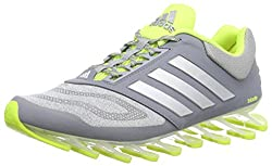 adidas Performance Men's Springblade Drive 2.0 Running Shoes, Gray (Gray / Silver Met./Solar Yellow), 45 1 / 3 EU