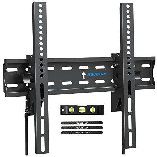 """MOUNTUP Tilting TV Wall Mount Bracket for 26-55 Inch Flat Screen TVs/ Curved TVs, Low Profile TV Wall Mount TV Bracket - Easy to Install On 12"""" or 16"""" Studs, VESA 400x400mm Weight up to 99 LBS, MU0007"""