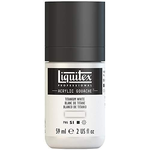 Liquitex Professional Gouache acrílico extrafino viscocidad Baja, Tubo 59 ml, Blanco De Titanio