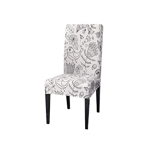 Zutty 1/2/4/6PCS Leopard Print Removable Chair Cover Big Elastic Slipcover Modern Kitchen Seat Case Stretch Chair Cover for Banquet,A-12,China,4PCS