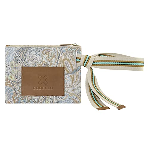 CODELLO Bolso de mano para mujer | Paisley | lona de algodón 100%, 28,5 x 21,5 cm