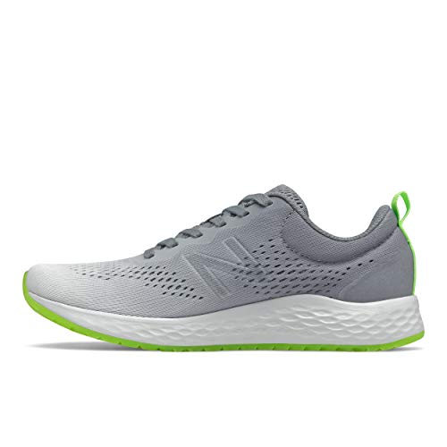New Balance Women's Fresh Foam Arishi V3 Running Shoe, White/Grey/Lime, 10.5 Wide