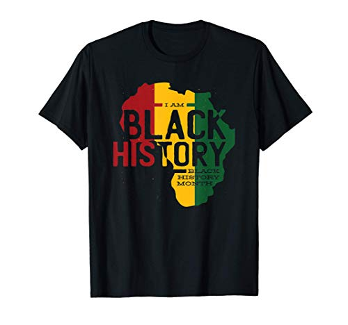 I am Black History Month - Africa Silhouette Image - African T-Shirt