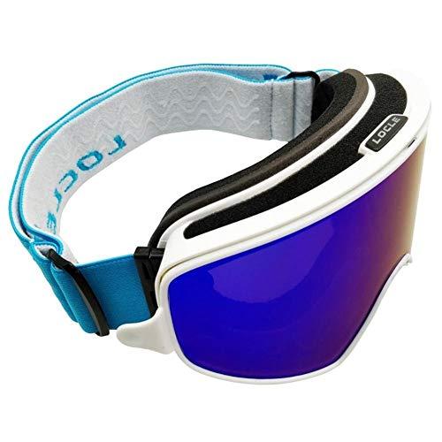 No brand Occhiali da Sci Occhiali da Sci 2 in 1 con Magnetico a duplice Uso for Notte Occhiali antinebbia UV400 Sci Snowboard Occhiali Occhiali da Sci Donne (Colore : 3, Size : 23cm)
