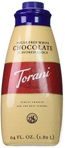 Torani Sugar Free White Chocolate Sauce, 64 Ounce