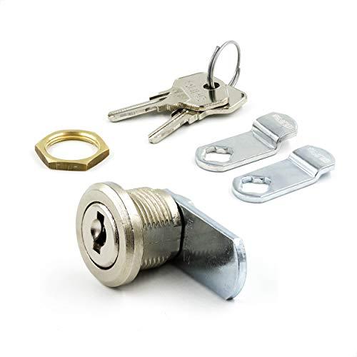 BURG Hebelschloss-Set 11mm verschiedenschließend (Universalzylinder, Briefkastenschloss, Möbelschloss, Schrankschloss)