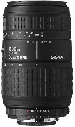 Sigma Autofokus-Zoom-Objektiv 70-300 mm / 4,0-5,6 DL für Minolta/Sony-Spiegelreflexkameras