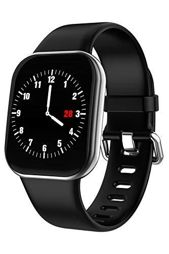 Reloj inteligente con pantalla táctil, contador de pasos, reloj deportivo, monitor de frecuencia cardíaca, monitor de presión arterial, monitor de sueño, recordatorio de iOS y Andriod