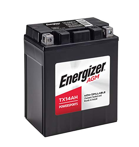 Energizer TX14AH AGM ATV and UTV 12V Battery, 210 Cold Cranking Amps and 12 Ahr, Replaces: YTX14AH-BS and others