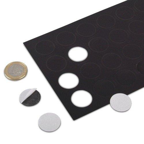 32 Stück Magnetplättchen selbstklebend, rund Ø 20 mm, Takkis Magnet-Plättchen runde Magnetfolien Zuschnitte Magnetscheiben