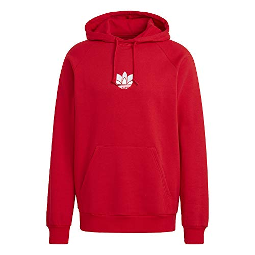 adidas LOUNGEWEAR Adicolor 3D Trefoil Graphic Hoodie Men's, Red, Size L