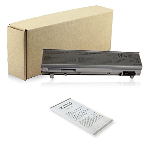 Exxact Parts Solutions Laptop Battery for DELL Latitude E6410 E6400 E6500 E6510 precision M2400 M4400 M4500 PT434 PT435 PT436 PT437 FU268 KY265 [Li-ion 11.1V 5200mAh 6 Cell]