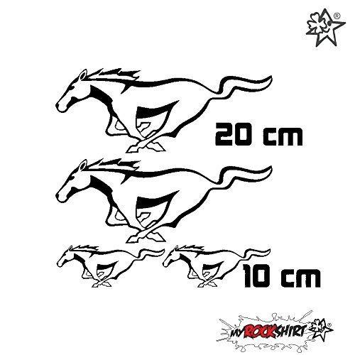 myrockshirt Tuning Set kompatibel für Mustang Ford Aufkleber Sticker