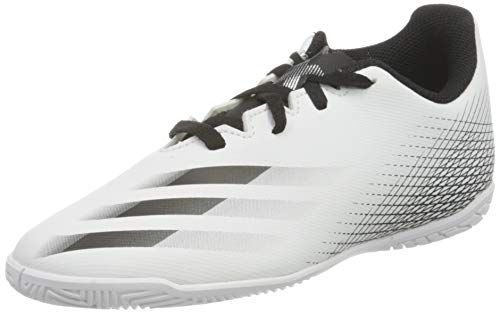 adidas X GHOSTED.4 IN J, Zapatillas de fútbol, FTWBLA/NEGBÁS/Plamet, 35 EU