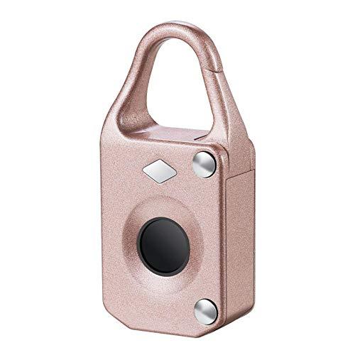 JIAMIN Gadgets & Gear Anti-theftl Electronic Smart Fingerprint Padlock Outdoor Travel Suitcase Bag Lock (Color : Rose Gold)
