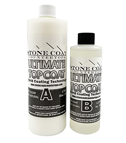 Ultimate Top Coat (Stone Coat Countertops) – Scratch-Resistant & UV-Resistant Epoxy Protects Your Surface from Damage! Finish and Coat Your DIY Epoxy Project with a Natural Matte Finish!