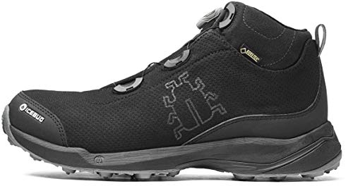 Icebug Gore-TEX Waterproof Boots for Men: Detour BUGrip GTX Mens Outdoor Walking Boot, Studded Traction Sole, BOA Lacing, Black 11.5