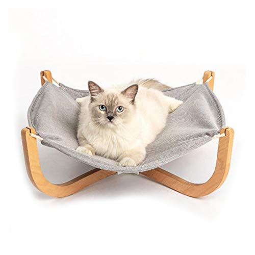 GYJ Huisdieren Kat Hangmat, Hangmat Lounge Bedden, Gemakkelijk te monteren Houten Bouw voor Konijn Kitten Puppy Indoor Outdoor Zonnestraal, Draagbare benodigdheden