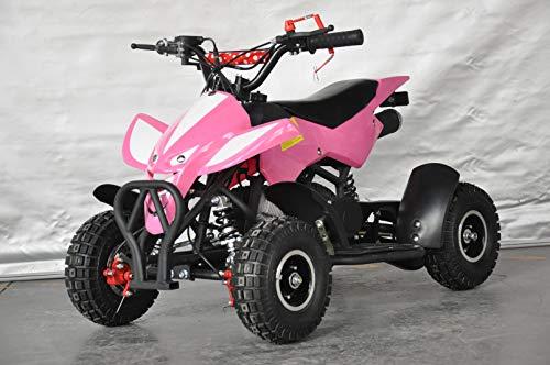 Mini quad infantil Raptor/Mini quad para niños de 3 a 8 años/Motor 49cc 2 tiempos (ROSA)