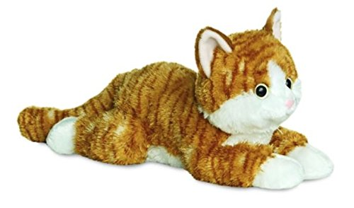 Aurora, 31456, Flopsies Chester die Katze, 30,5 cm, Plüschtier, Braun, Ingwer und Weiß