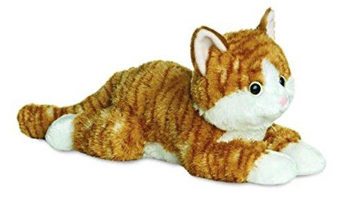 Aurora 31456 Flopsies Chester die Katze, 30,5 cm, Plüschtier, Braun, Ingwer und Weiß