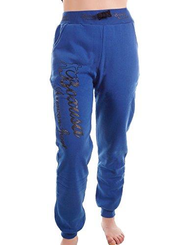 BECool Damen Fleece Jogginghose - Boxusa American Style - Sweathose Freizeithose - Boyfriendhose, 090-5726-Blau-(S/36)