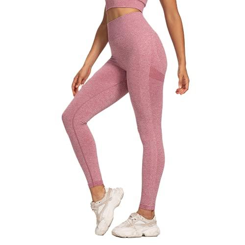 QTJY Protector de Cadera de Cintura Alta, Pantalones de Yoga para Mujer, Leggings Push-up, Pantalones Deportivos para Correr al Aire Libre de Secado rápido, VL