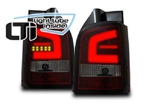 1 paar achterlichten V. T5 van 2010 tot 2015 LED LTI ruw chroom VW110141