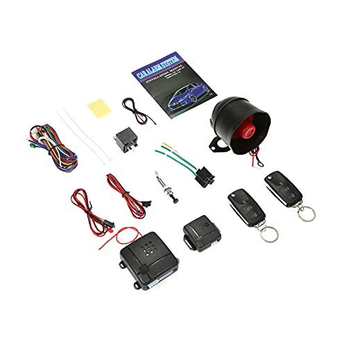 KKmoon Sistema de Alarma Antirrobo Coche Universal con 2 Controles Remotos