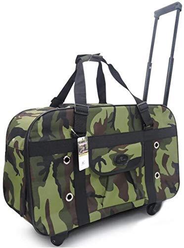 Pet Trolley, Pet Trolley Case Pet Carrier Travel Trolley Backpack Breathable Portable Dog Cat 2 En 1 Wheel Firm