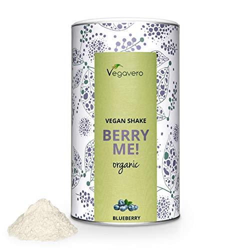 BIO Proteína Vegana + MACA y GUARANÁ Vegavero® | Batidos Saciantes + Masa Muscular + Bebida Energética en Polvo | Aislado de Guisante y Arroz | Sin Soja Ni Gluten | 500 g | Vegan Protein Berry Me