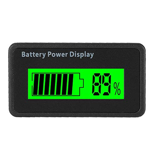Save %5 Now! V BESTLIFE Battery Capacity Voltage Meter, GY-6H 12-48V Battery Power Display Waterproo...
