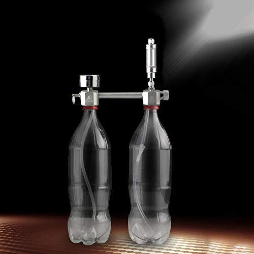Weehey Acquario Kit Kit generatore di CO2 Fai-da-Te Sistema generatore di CO2 con contabolle e valvola di ritegno Kit reattore ad anidride carbonica per Piante Acquario