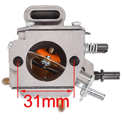 Hipa Carburetor with Air Filter Fuel Line Repower Kit for STHIL MS290 MS310 MS390 029 039 Chainsaw