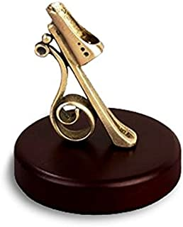 Vintage Pen Holder Pen Stand Wood and Brass N1169