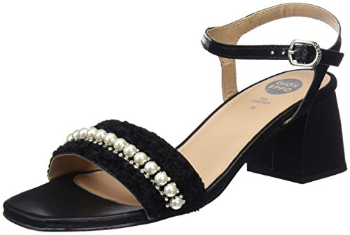 Gioseppo 45342, Zapatos de tacón con Punta Abierta Mujer, Negro (Black), 36 EU