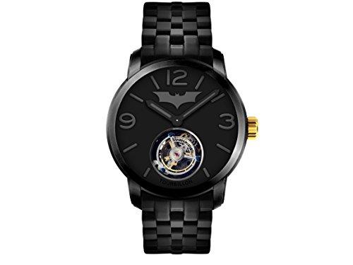 [edición limitada] memorigin X Batman reloj de Tourbillon de acero inoxidable