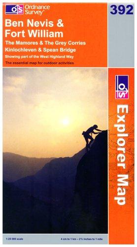 OS Explorer map 392 : Ben Nevis & Fort William