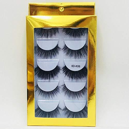 XZY Mixed Styles Hair False Eyelashes Handmade Long Eyelash Wispy Fluffy Multilayer Lashes Reusable,06