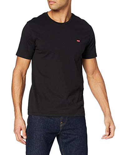 Levi\'s Herren Ss Original Hm Tee T-Shirt, Cotton + Patch Black, XL